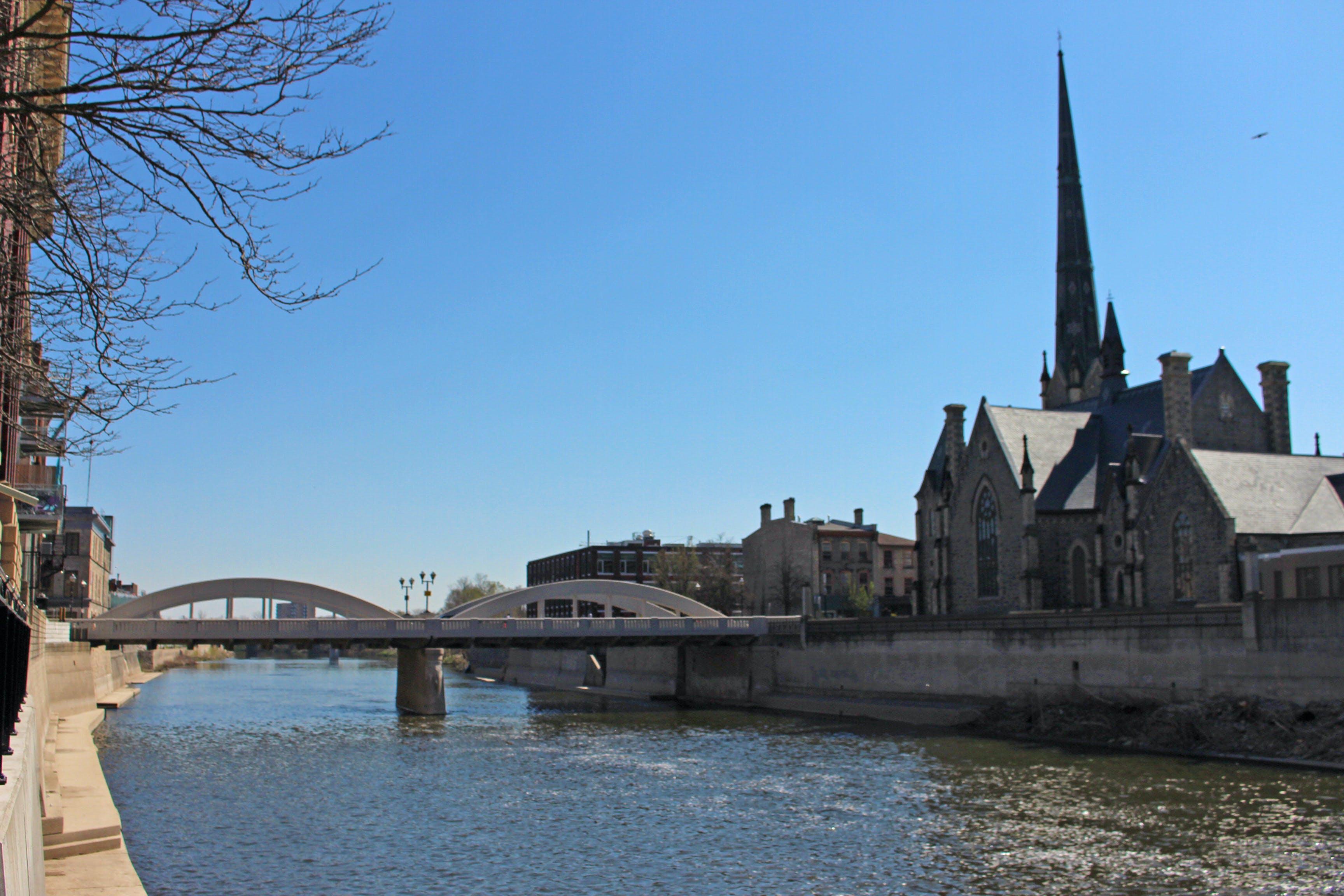 Free stock photo of bridge, river