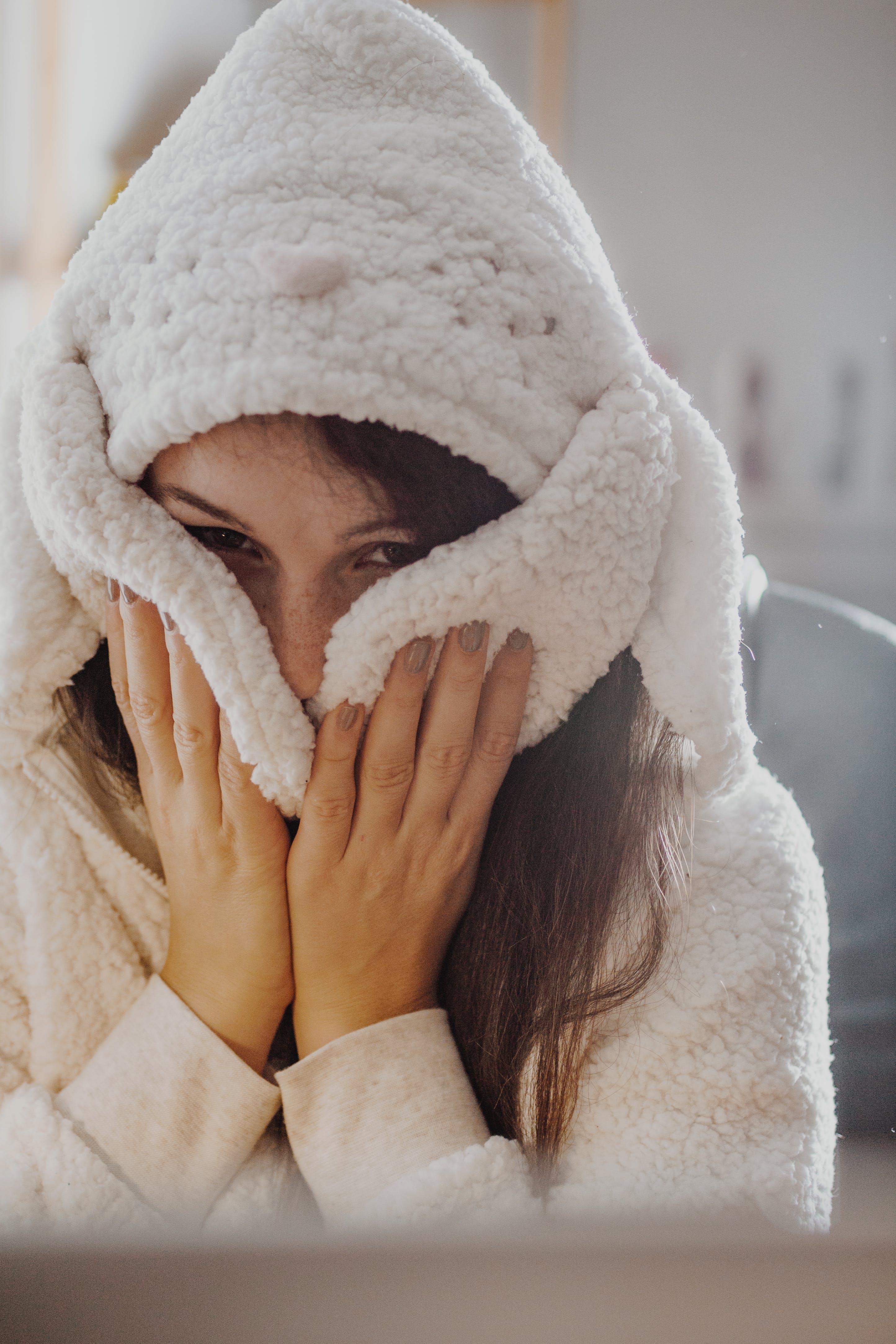 Photography of a Woman Wearing Sheepskin Jacket