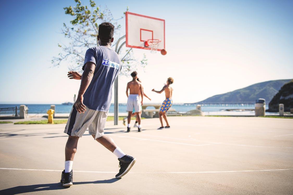 атлети, баскетбол, баскетбольний майданчик