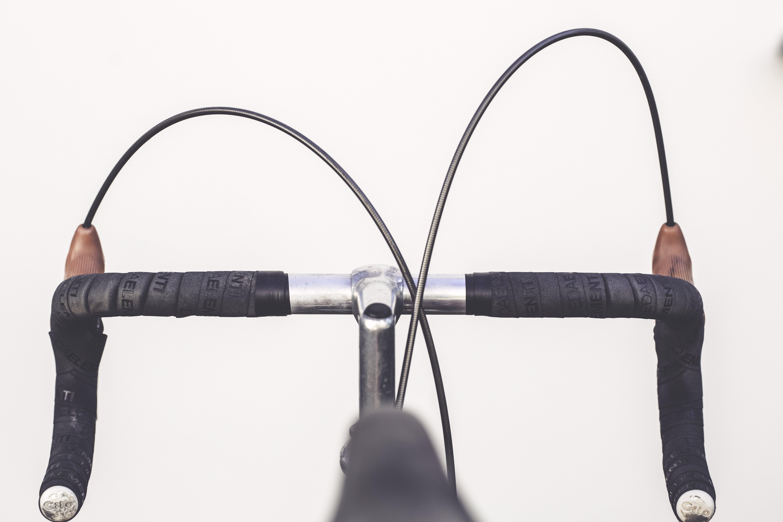Black and Gray Road Bike Handle