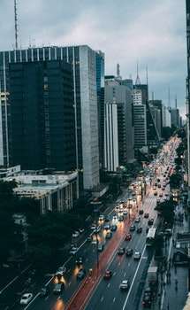 Free stock photo of city, road, traffic, landmark