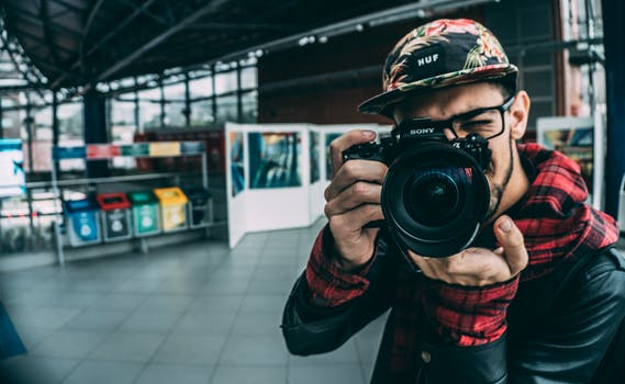 Free stock photo of man, camera, photographer, technology