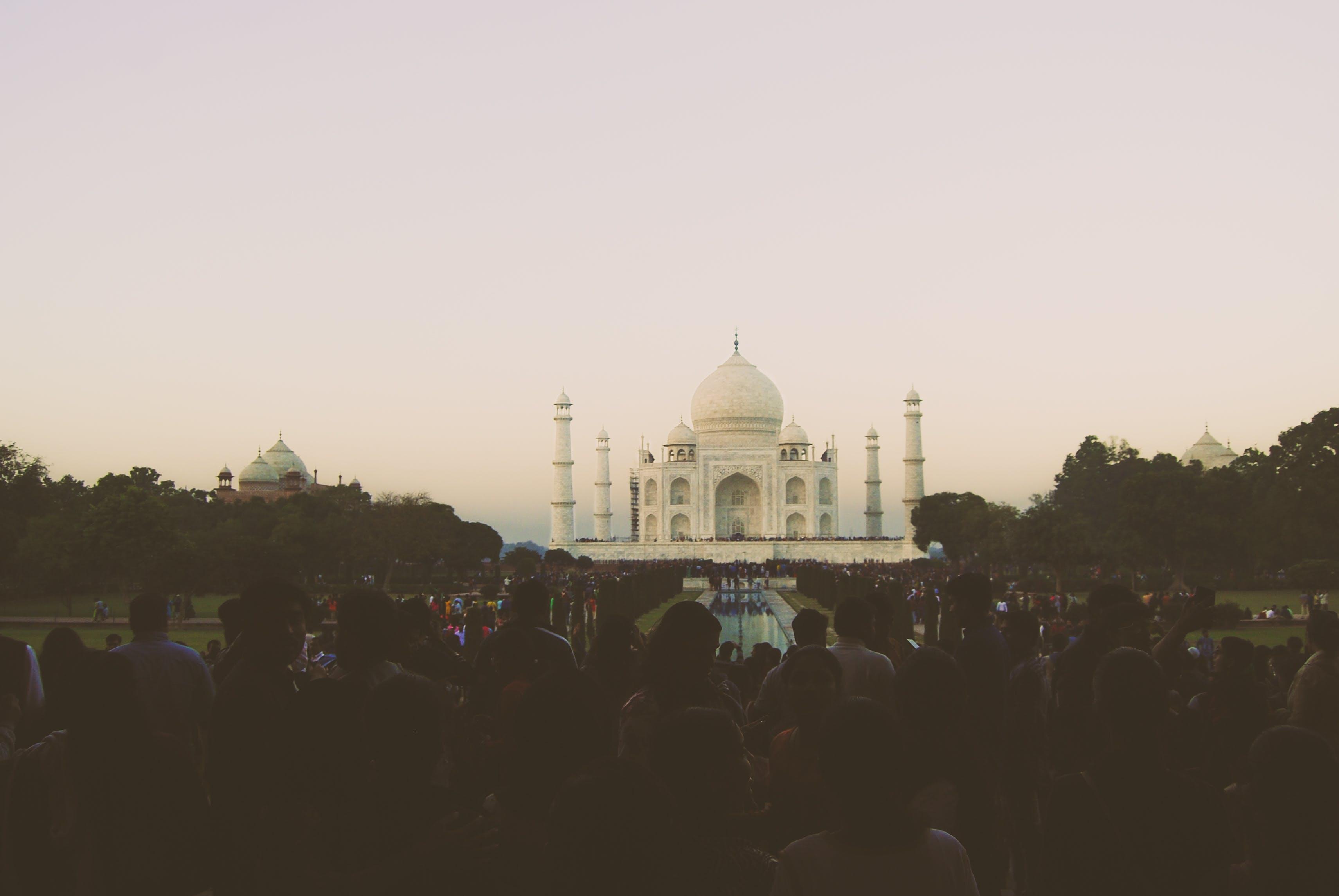 Free stock photo of crowd, taj mahal