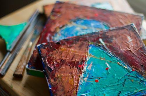 Fotobanka sbezplatnými fotkami na tému akrylová farba, dizajn, maľba, plátno