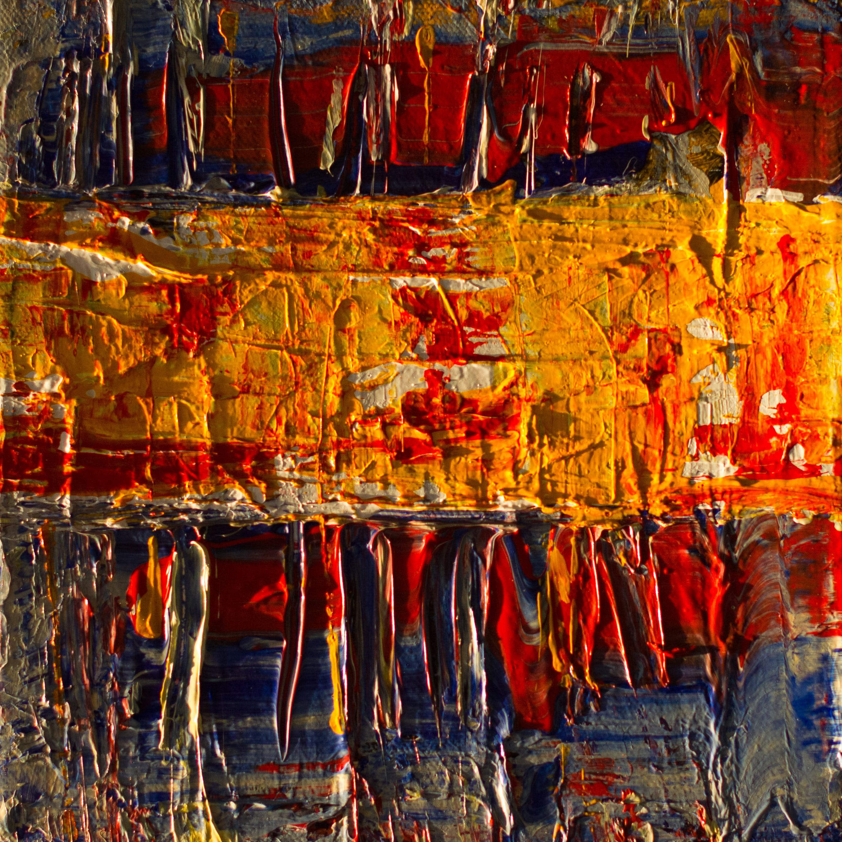 Yellow and Red Surface