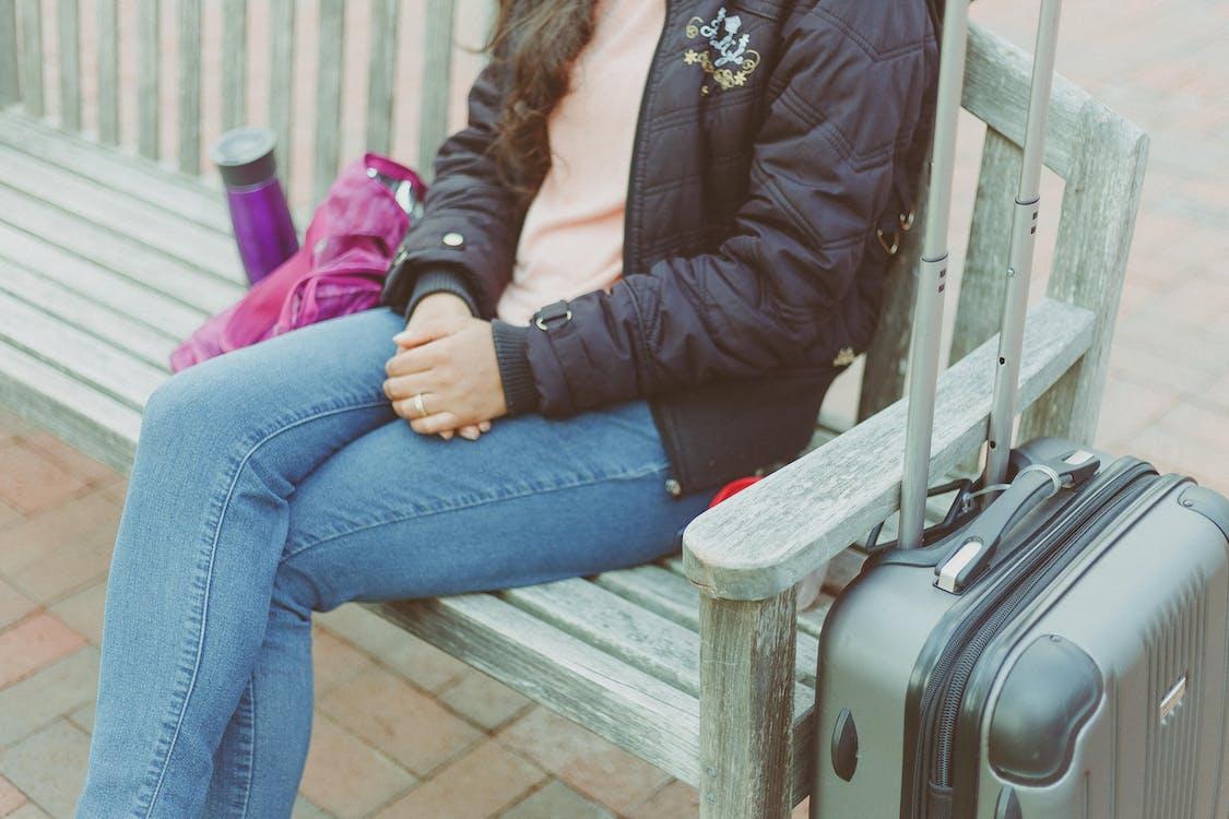 багаж, женщина, мода
