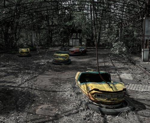 Immagine gratuita di abbandonato, autoscontri, autoscontro