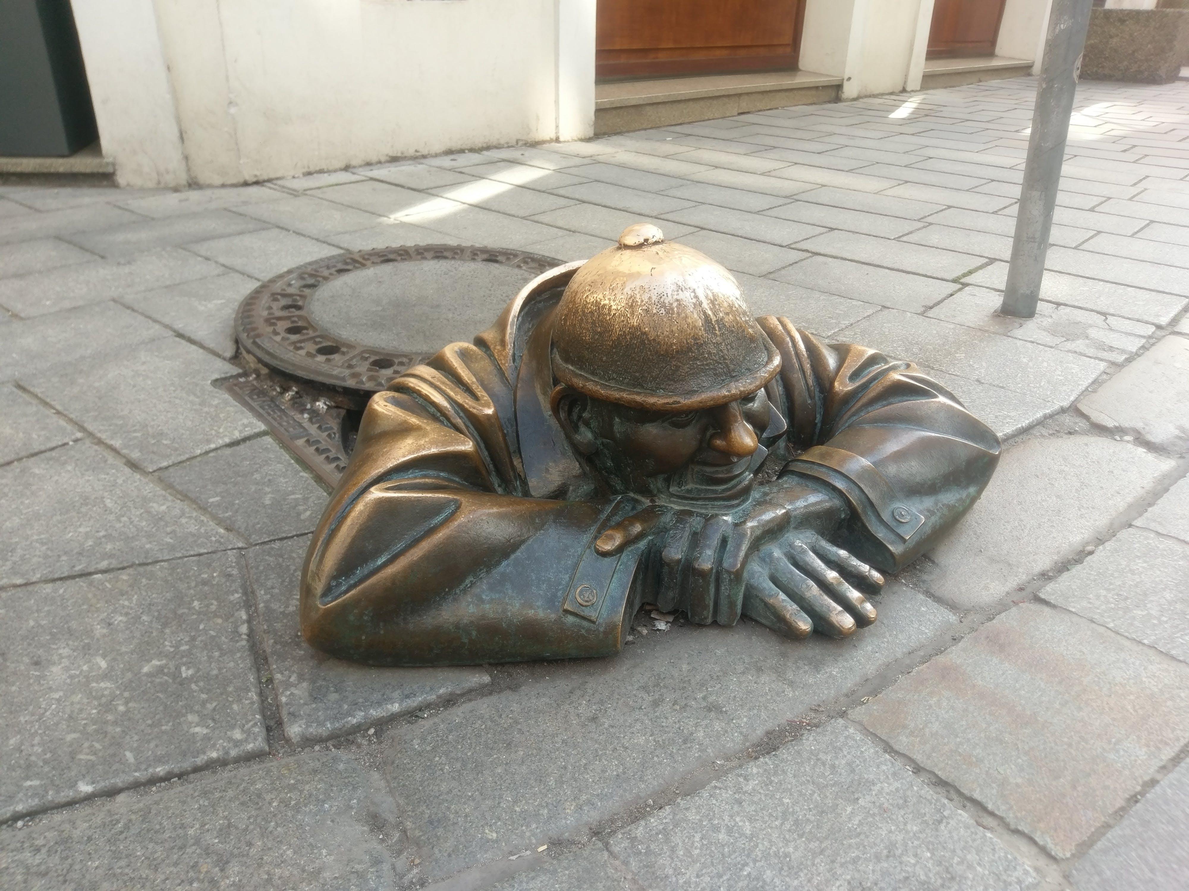 Gratis lagerfoto af kloak, mand, statue