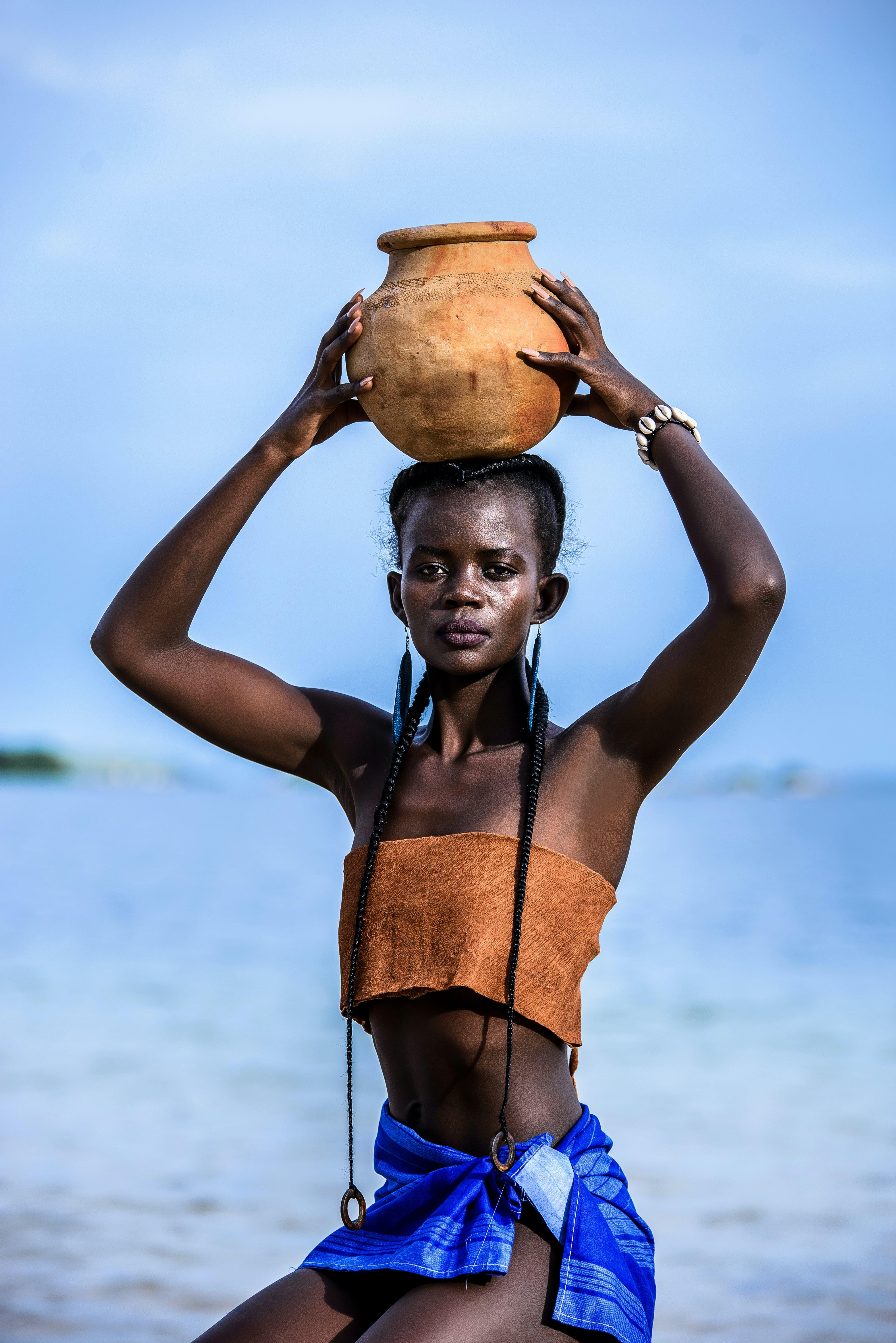 Woman Wearing Brown Tube