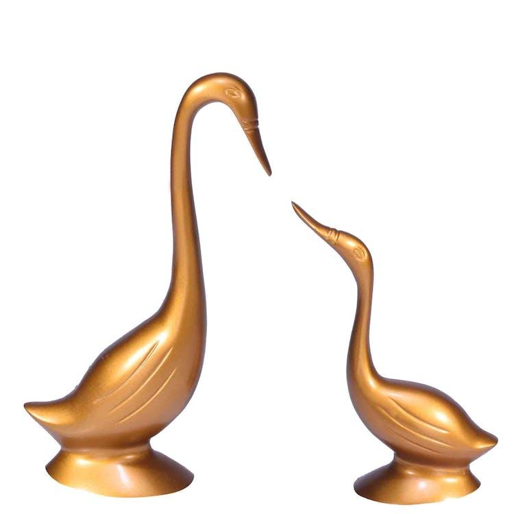 conjunto de cisnes, criativo, decoração de casa