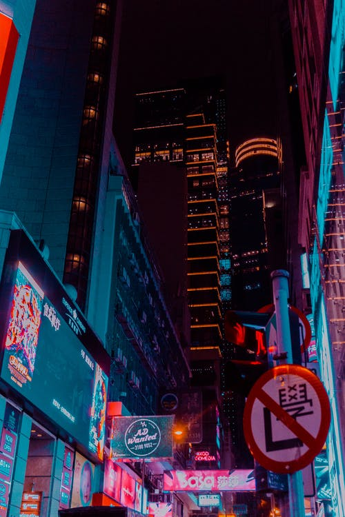คลังภาพถ่ายฟรี ของ ความมืด, ตอนเย็น, ตัวเมือง, ตึก