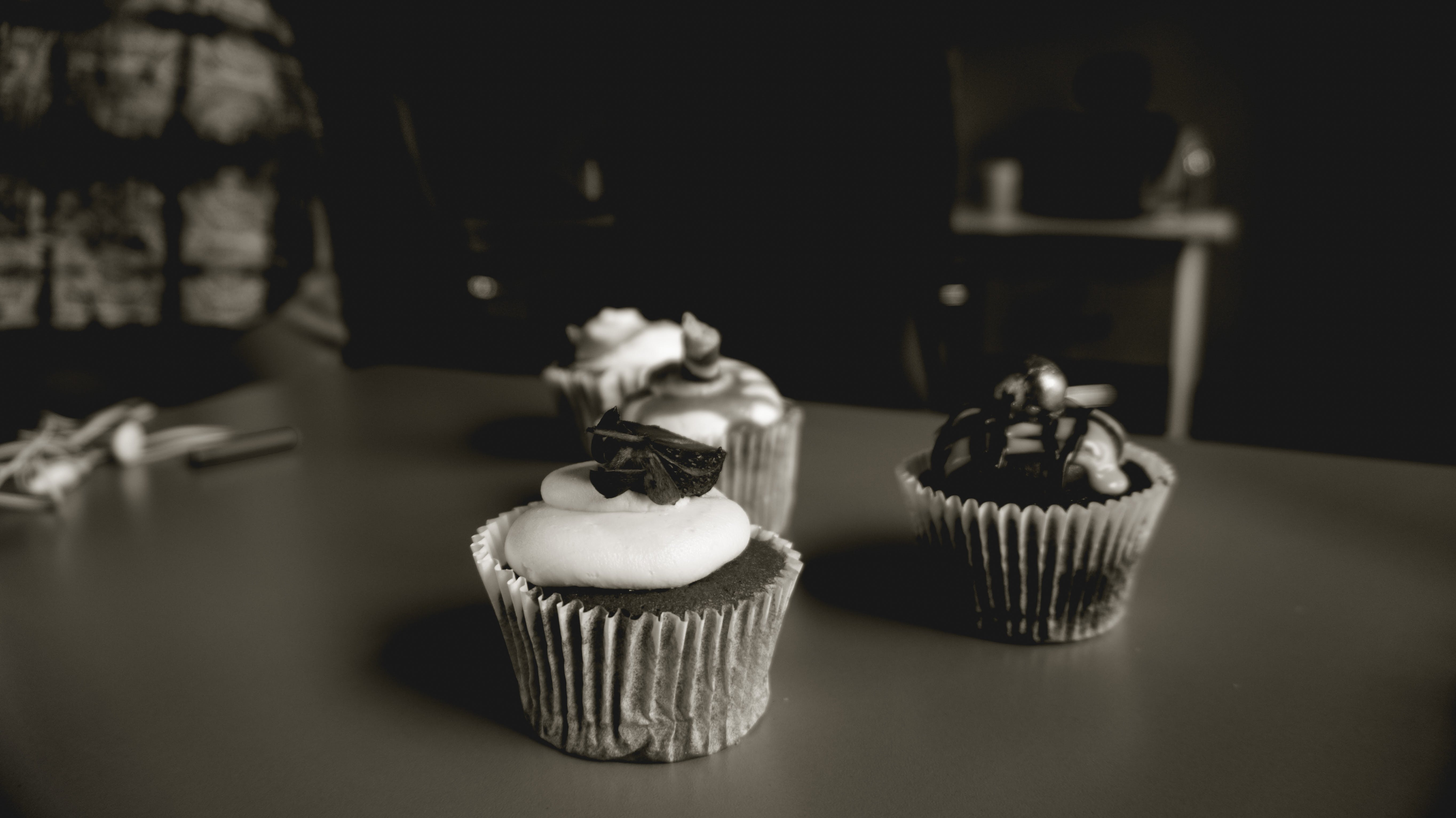Free stock photo of photography, chocolate, cupcake, horizontal