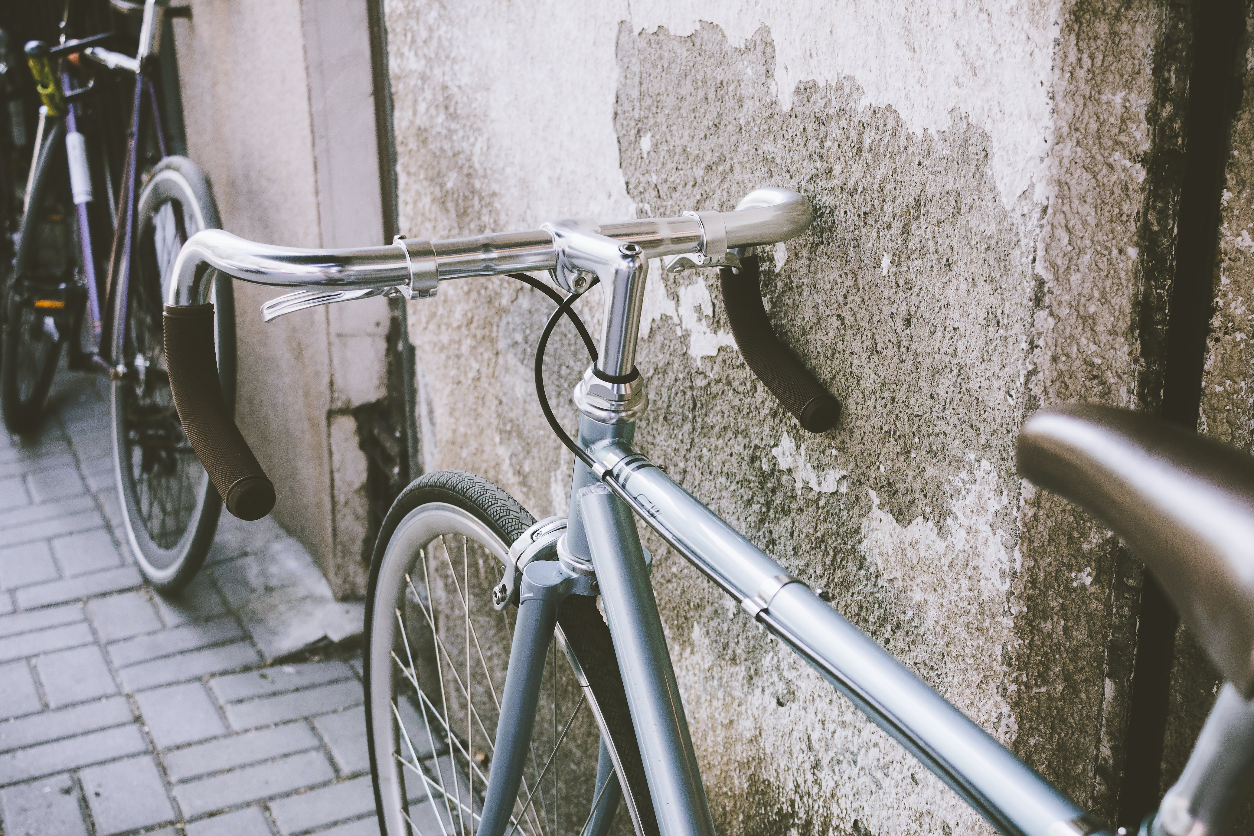 Gray Road Bike