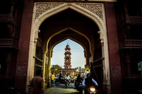 Ảnh lưu trữ miễn phí về Ấn Độ, tháp đồng hồ, đám đông