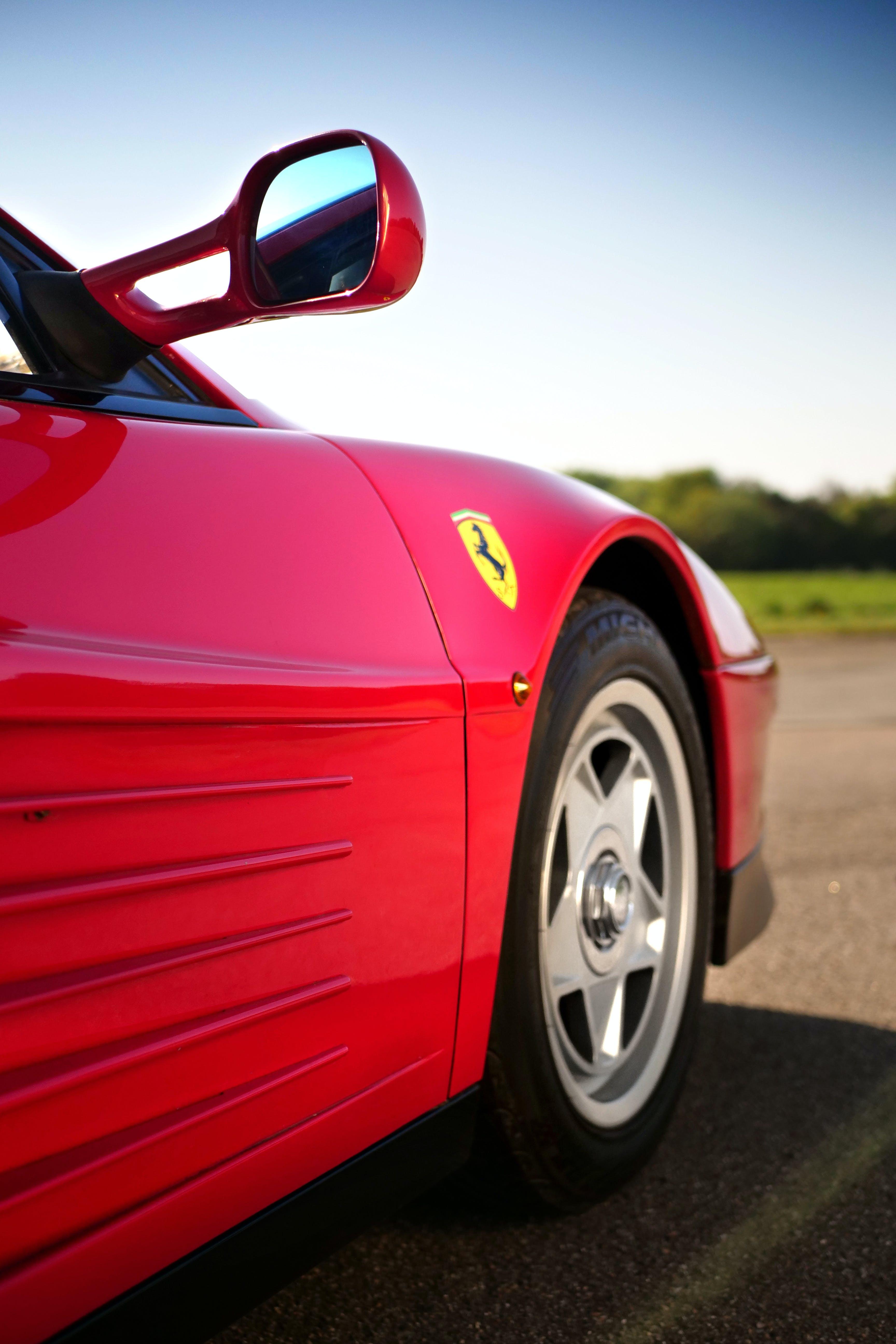 Photo Of Red Ferrari Sports Car
