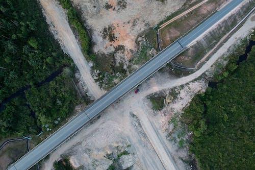 Fotobanka sbezplatnými fotkami na tému cesta, diaľnica, letecký záber, pohľad zvtáčej perspektívy