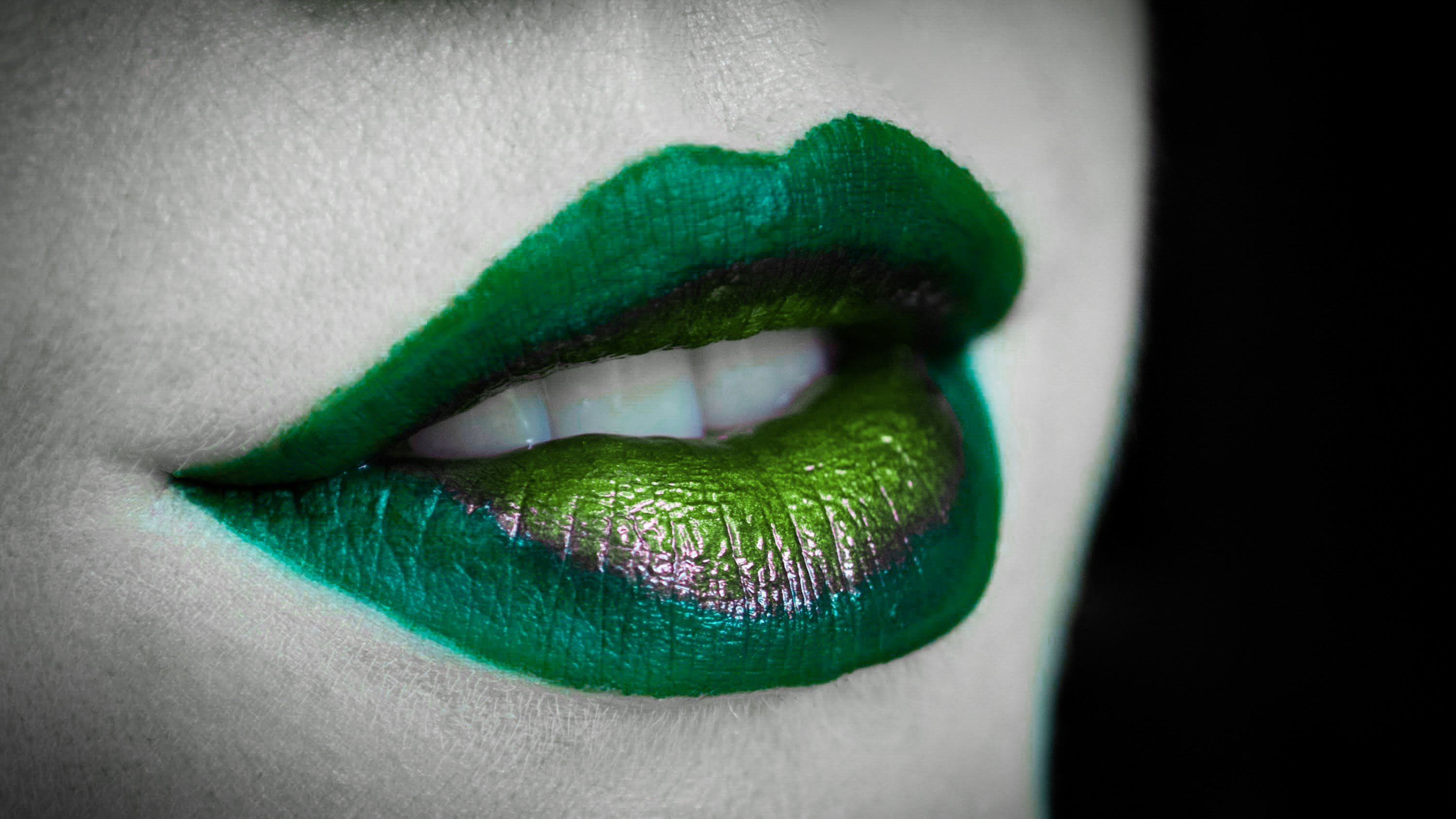 Free stock photo of model, green, mouth, evil