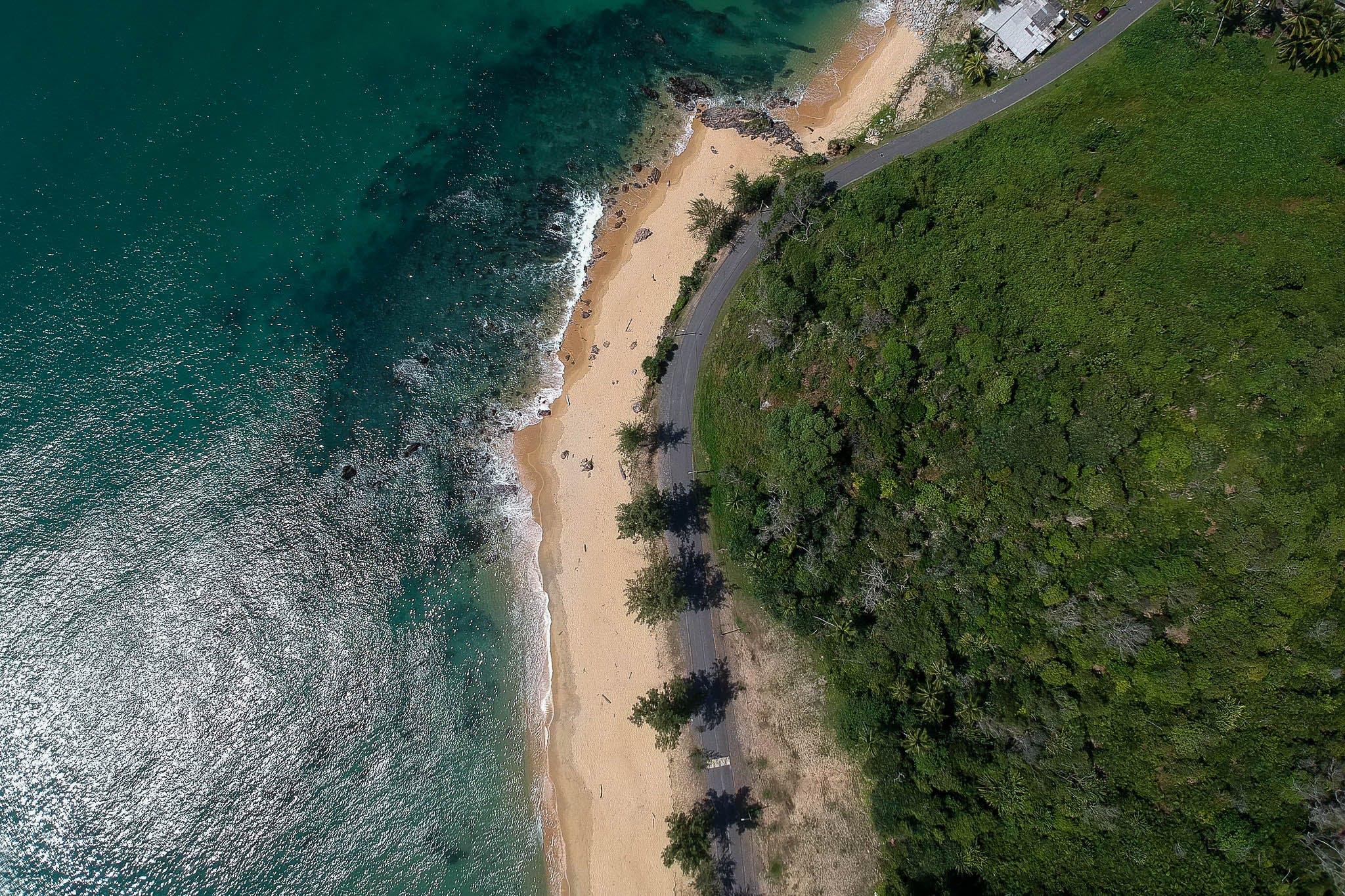 Bird's-eye View Photo of Island