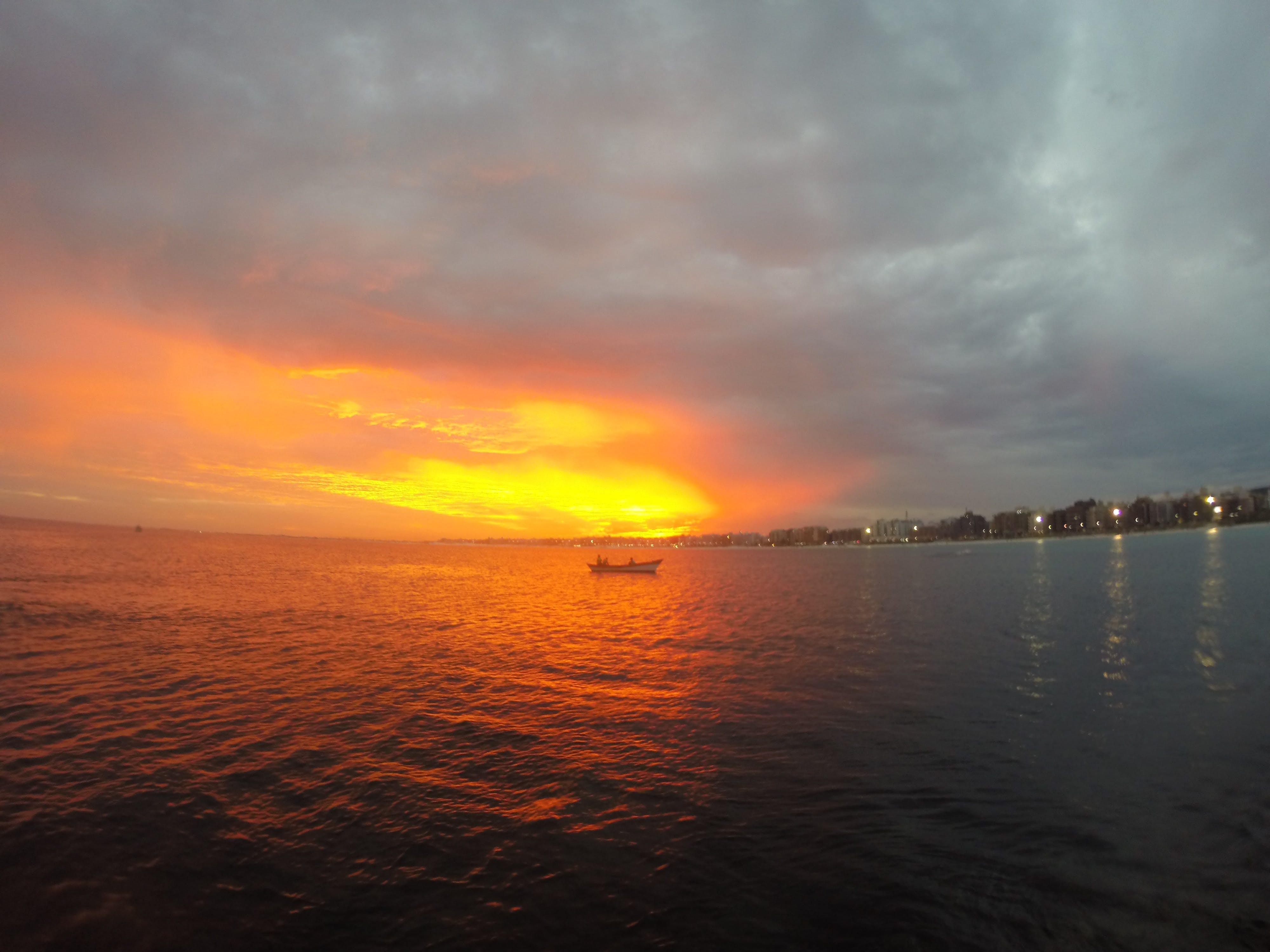 Free stock photo of #sea, #summer #, #sun #, #canoe
