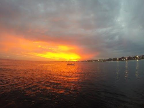 Photos gratuites de #canoë, #été #, #mer, #soleil #