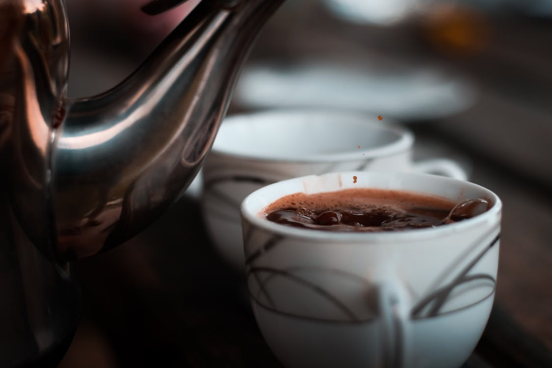 กาน้ำชา, การถ่ายภาพหุ่นนิ่ง, กาแฟ