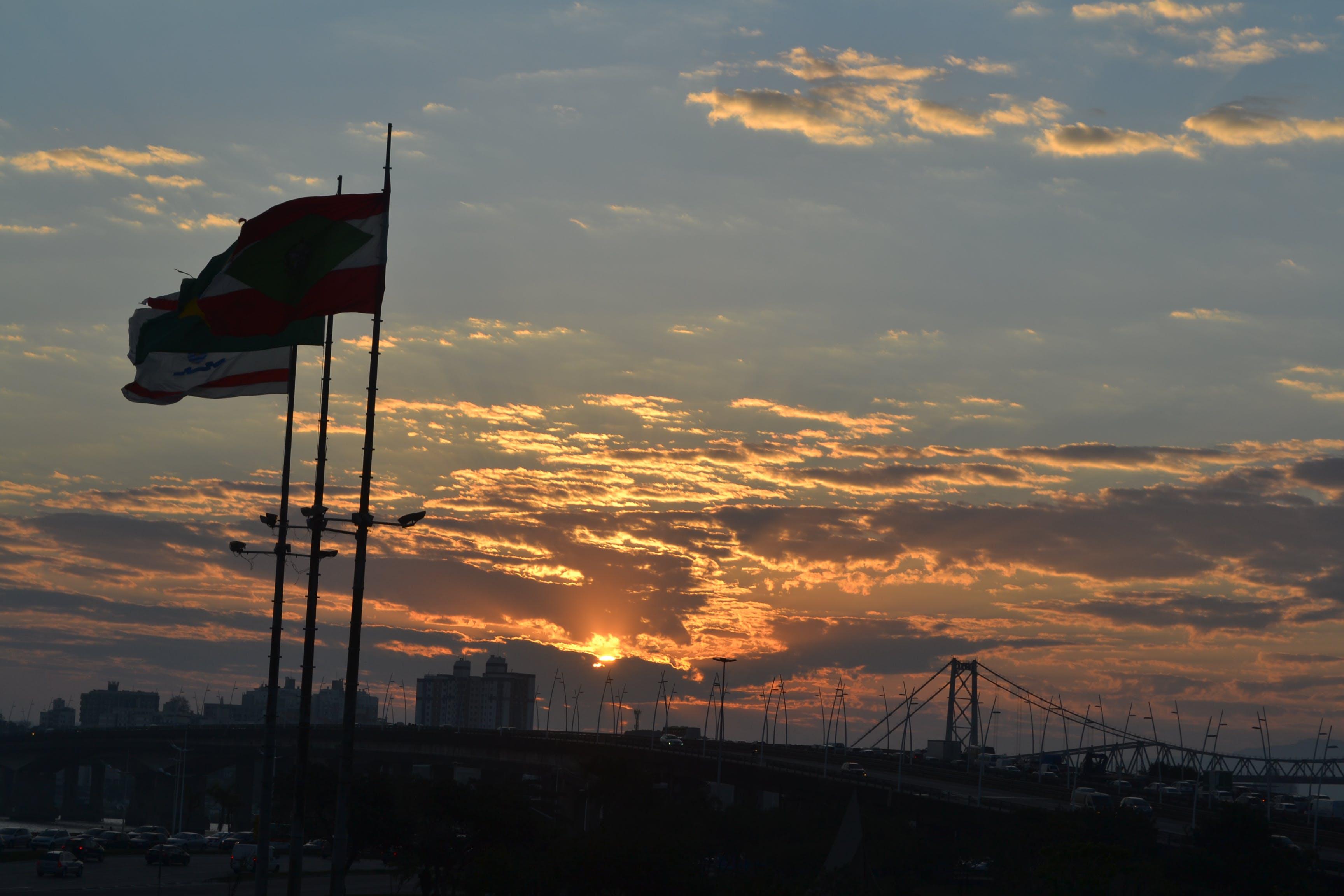 Free stock photo of #sun, #flag, # heaven