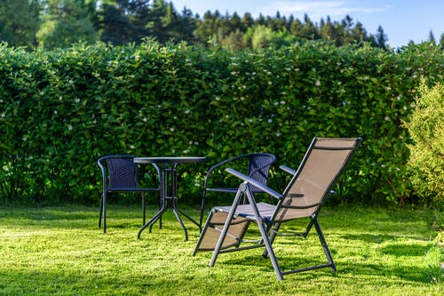Free stock photo of barbecue, chairs, deckchair, evening