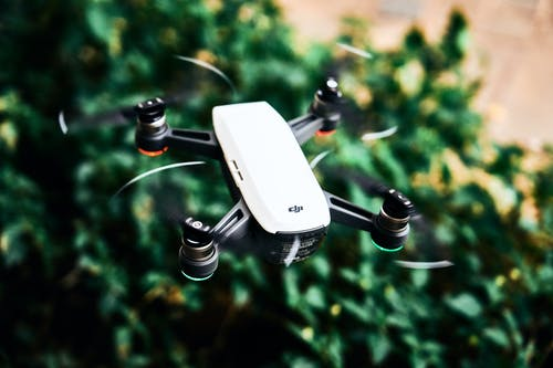White and Black Dji Quadcopter