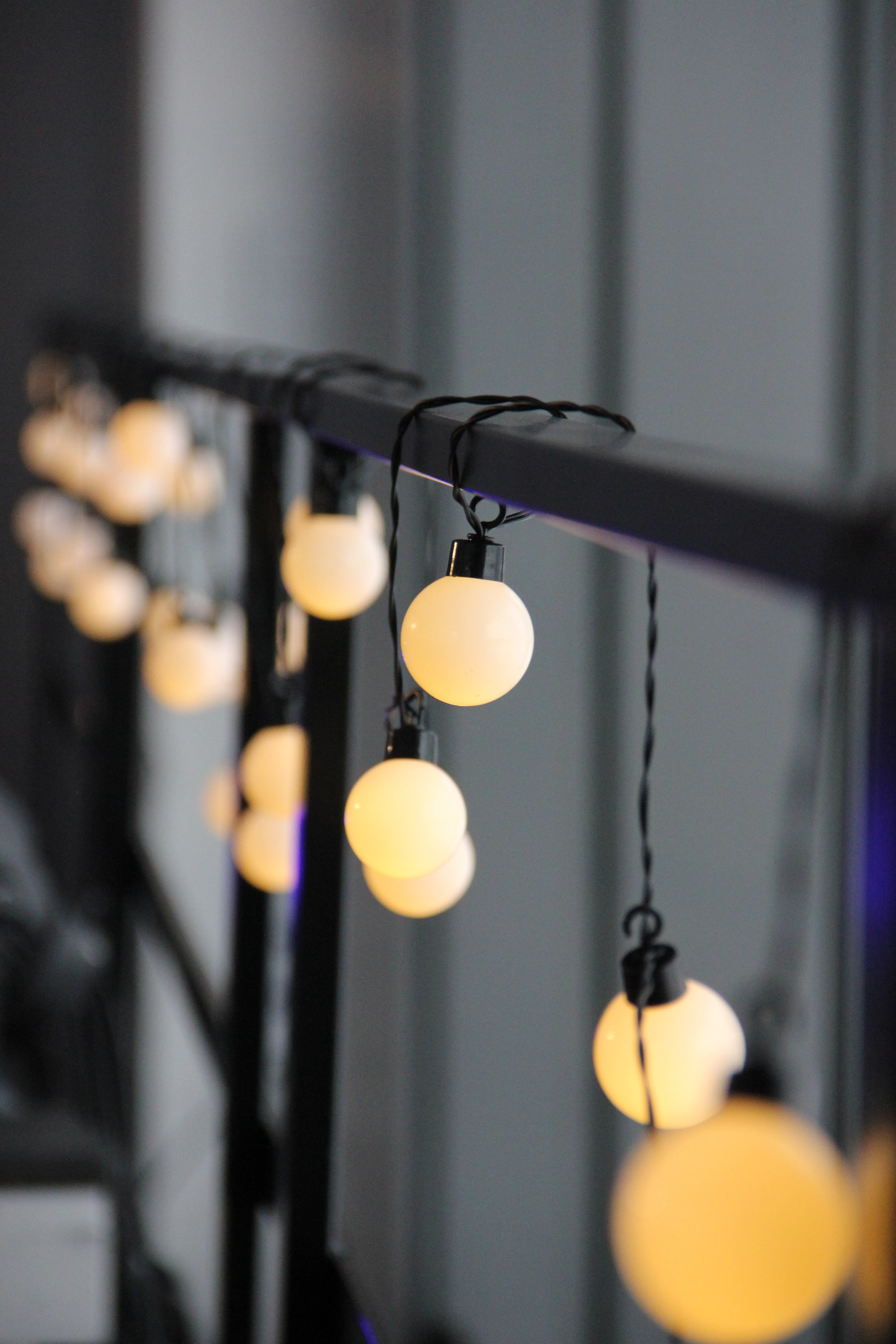 Selective Focus Photo of String Lights