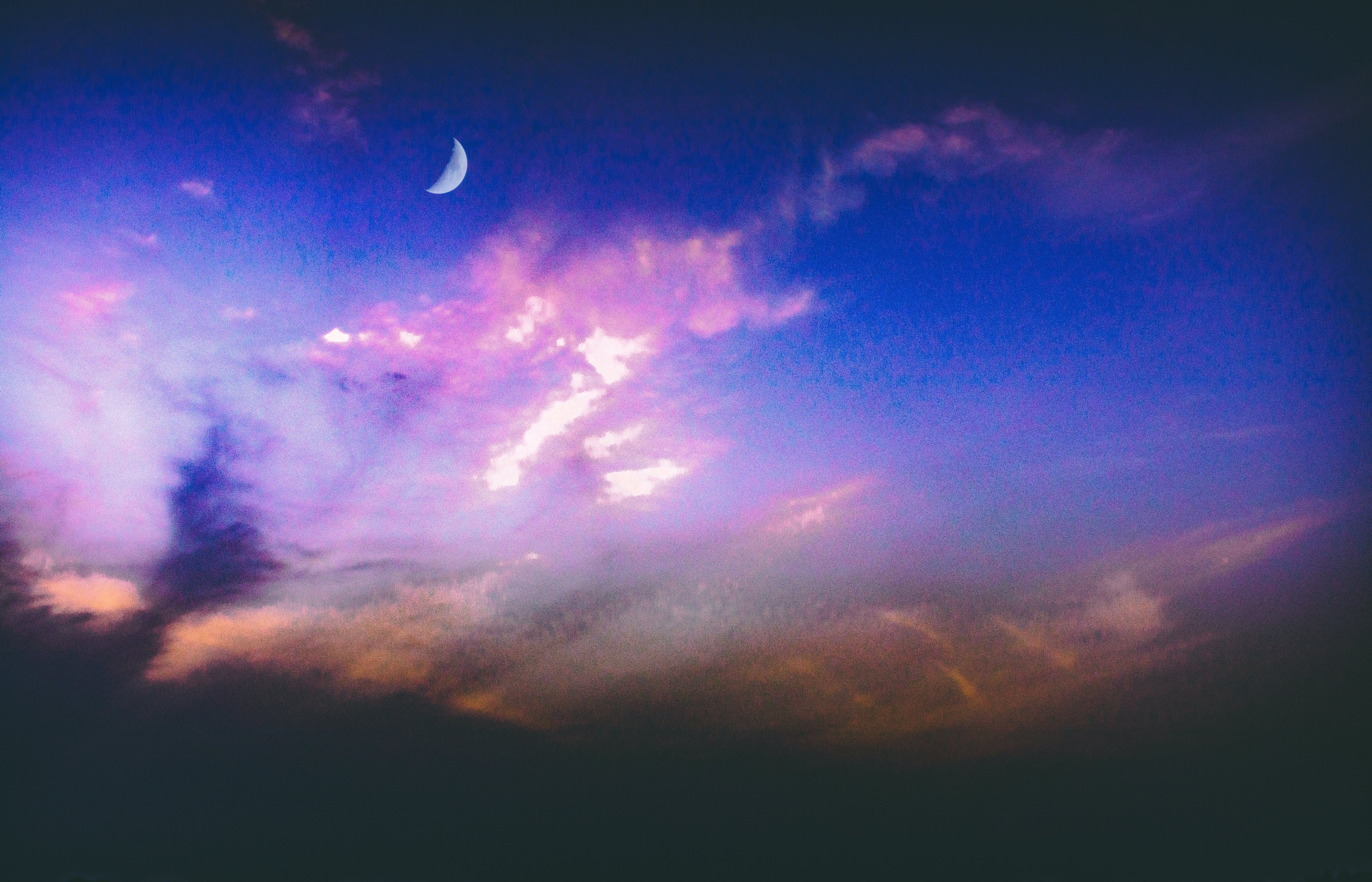 Free stock photo of clouds, moon, sky