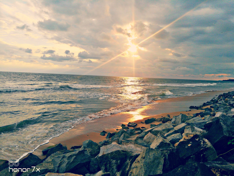 Free stock photo of beach, golden sunset