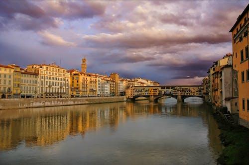 Free stock photo of bridge, clouds, firenze
