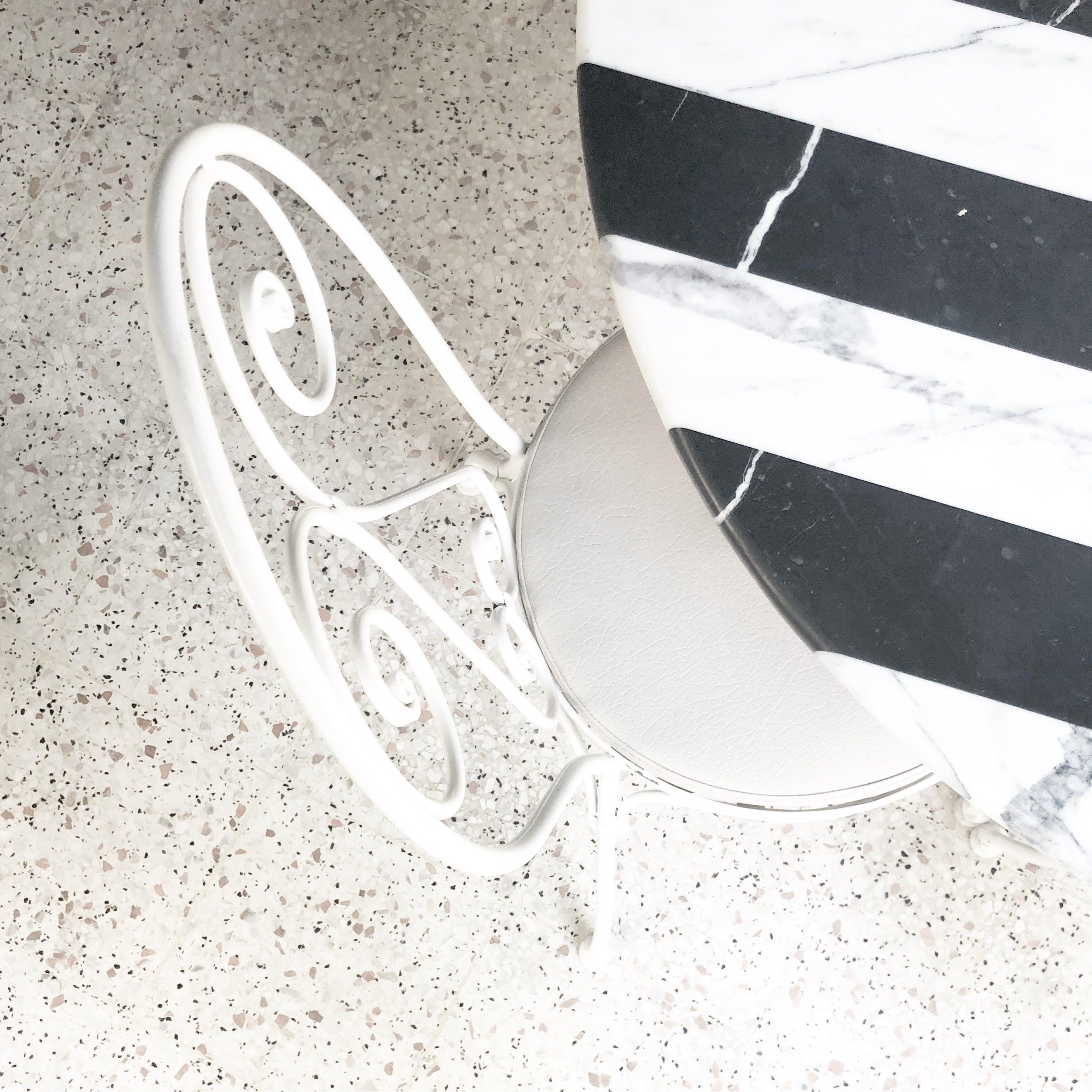 White Metal Framed Chair