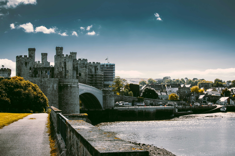 コンウィ城, シティ, タウン, ノースウェールズの無料の写真素材