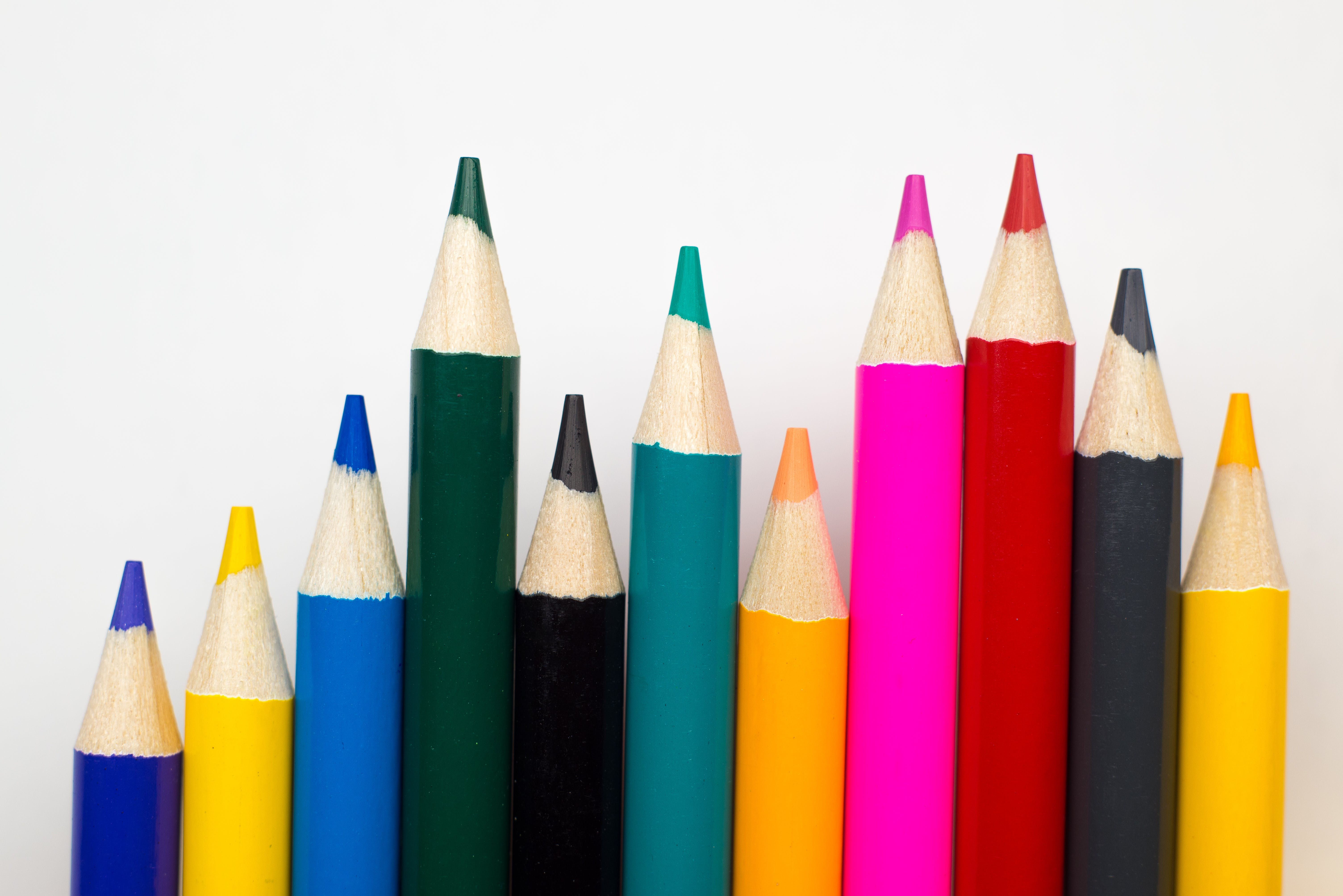 Free stock photo of color pencil, colored pencils, colors, diagram