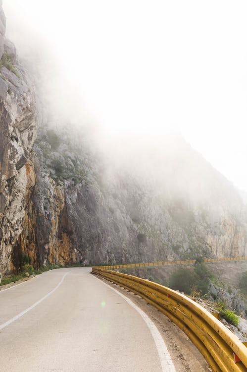 asfalt, droga, góra