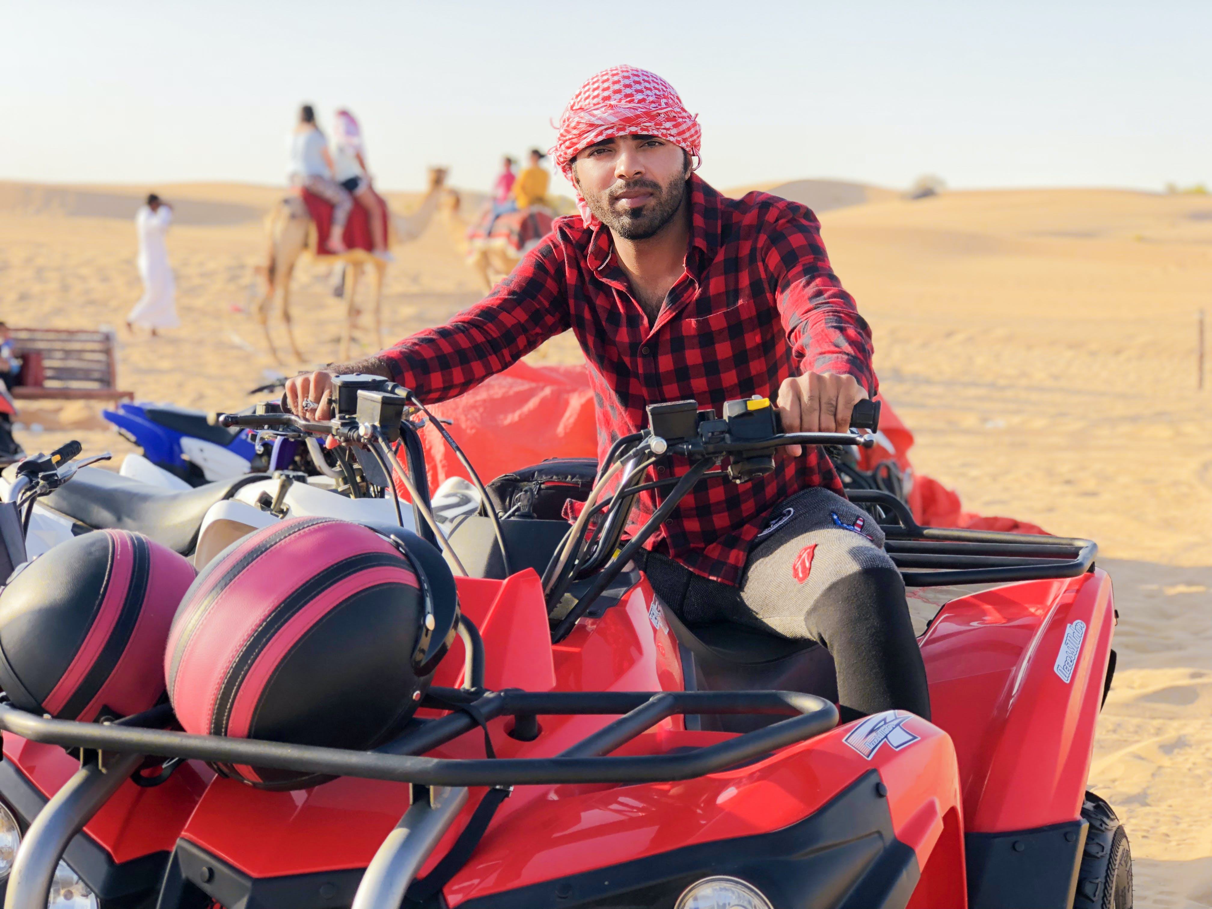 Free stock photo of desert, dubai, quadbike, safari