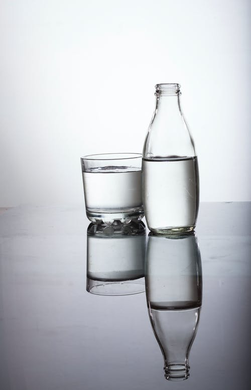 Free stock photo of bottle, glass, shadow, water