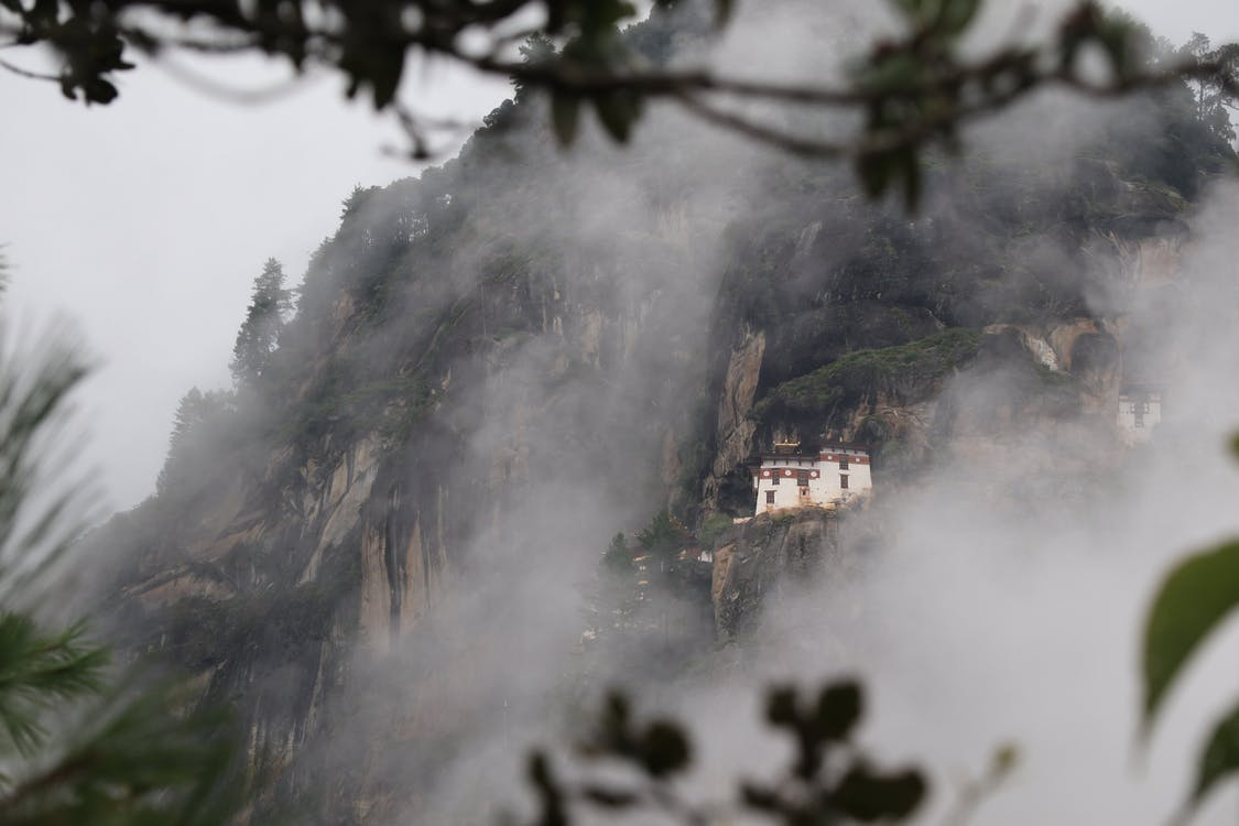 Concrete House on Mountain