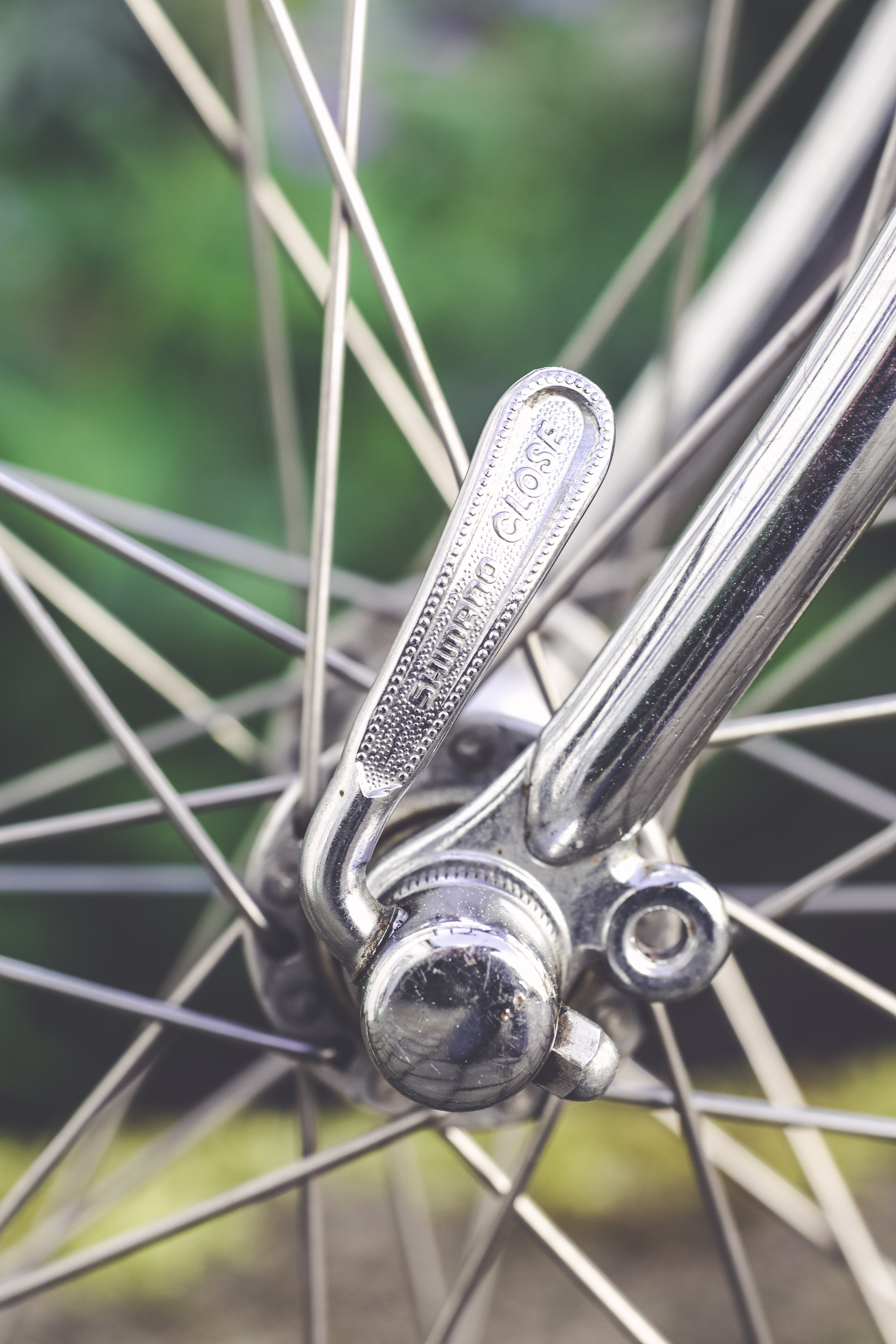 Close-Up Photography of Wheel Spokes