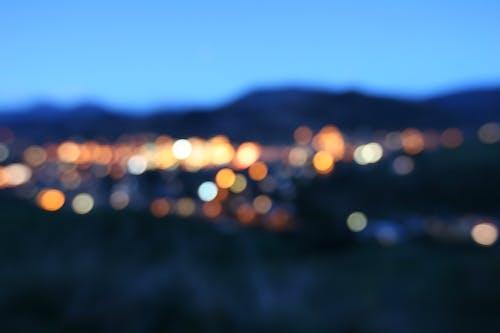 ぼんやりした, シティ, 夜, 夜景の無料の写真素材