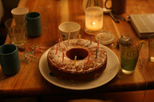 lightingisbuetafle, ろうそく, ケーキ, パーティーの無料の写真素材