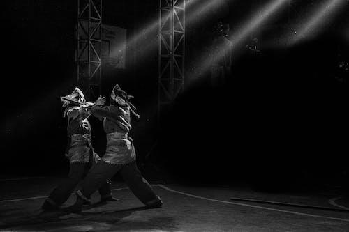 Základová fotografie zdarma na téma boj, černobílá, světlo a stín, tradiční