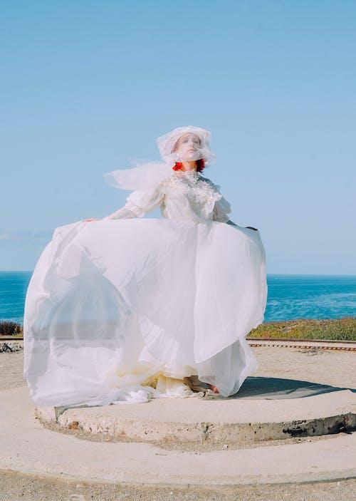 Foto d'estoc gratuïta de a l'aire lliure, aigua, amor, boda