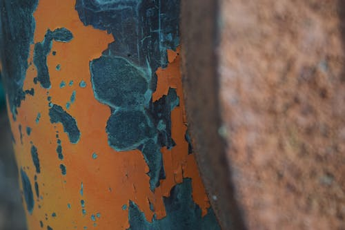Free stock photo of abandoned, chipping paint, orange paint, paint chipping
