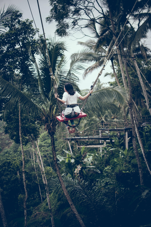 Girl Riding Swing
