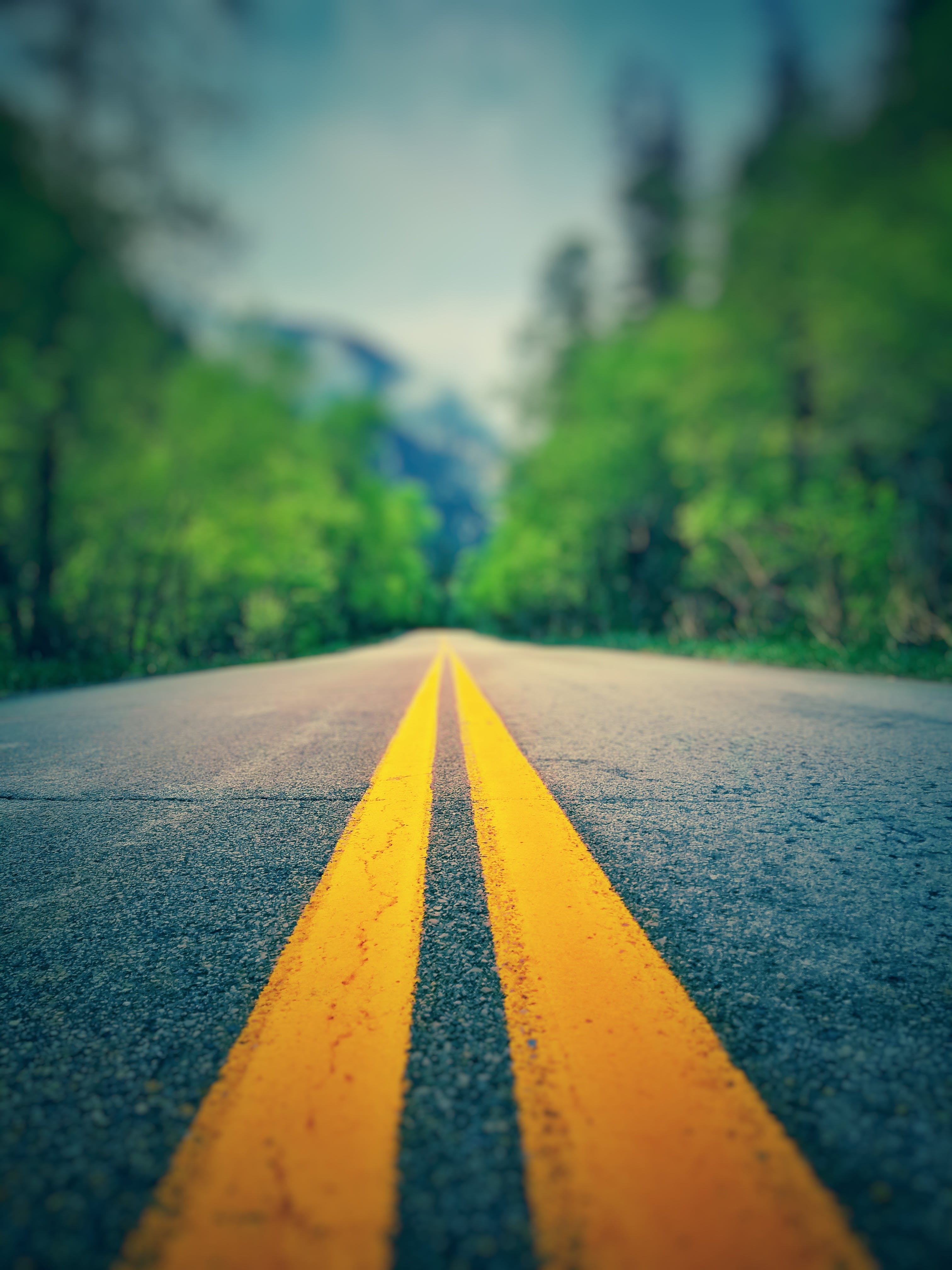 Shallow Focus Photography of Road