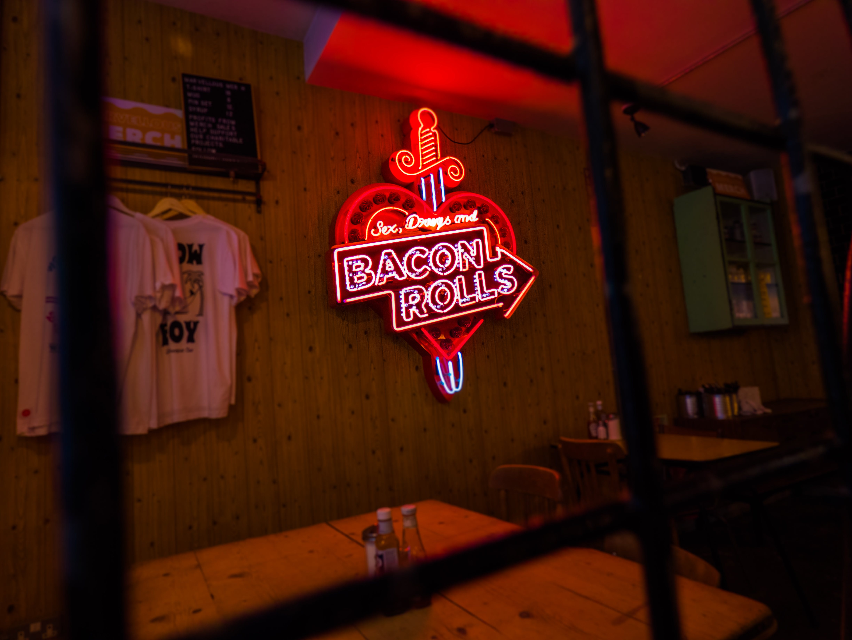 Neon Light Signage On Wall