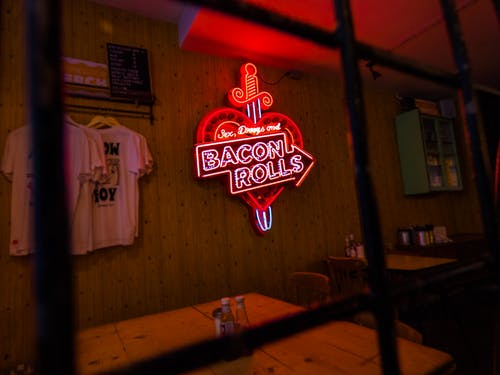 Neon Light Signage On Wall