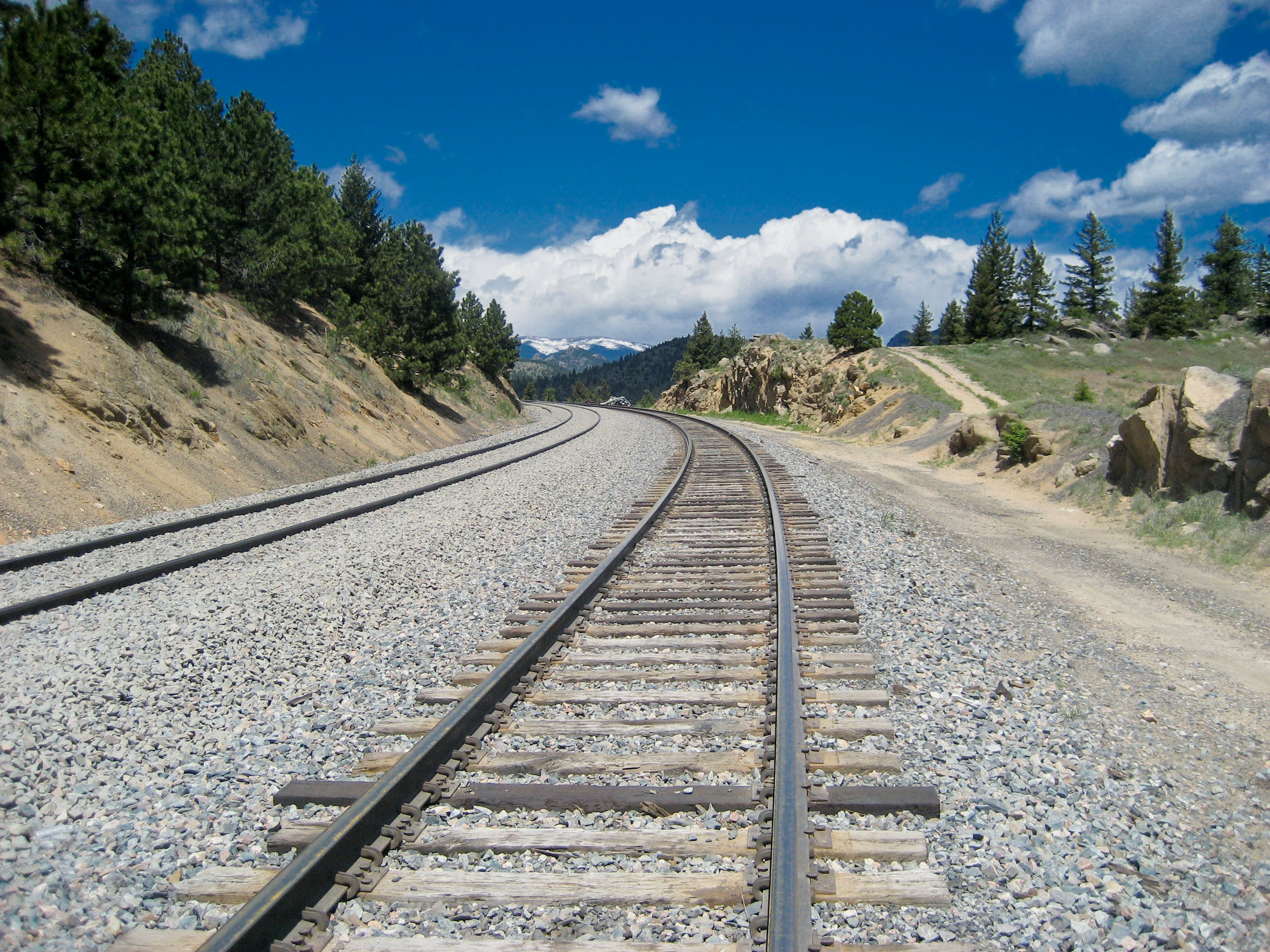 Free stock photo of railbed, tracks, train, train tracks